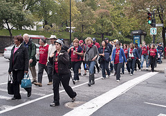 Walk a thon crowd